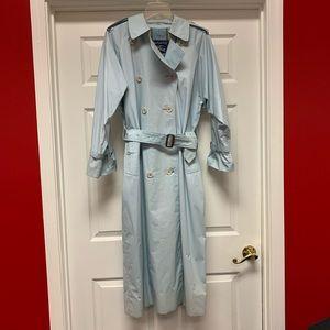 Vintage Burberry Light Blue Trench Coat sz L